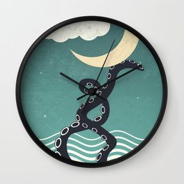 The octopus and the sea II (a lullaby) Wall Clock