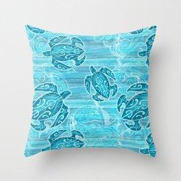 Hawaiian Tribal Honu's Throw Pillow