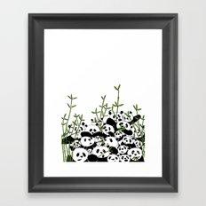 A Pandemonium of Pandas  Framed Art Print