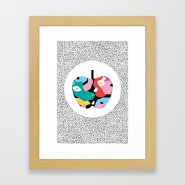 Apple Mess Framed Art Print