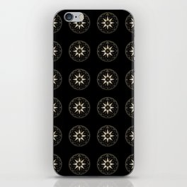 Mariner's Compass Pattern iPhone Skin