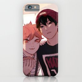 Kagehina idol AU  iPhone Case