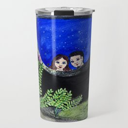The Well of Wishes, an illustration by Ines Zgonc Travel Mug