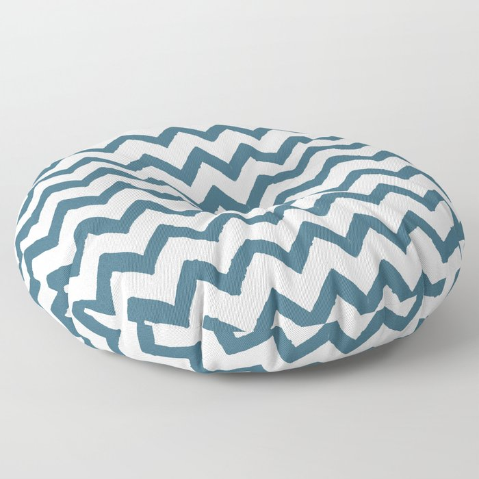 Chevron Teal Floor Pillow