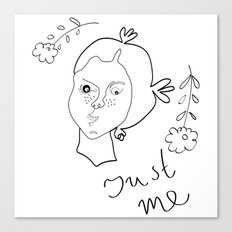 Just me Canvas Print