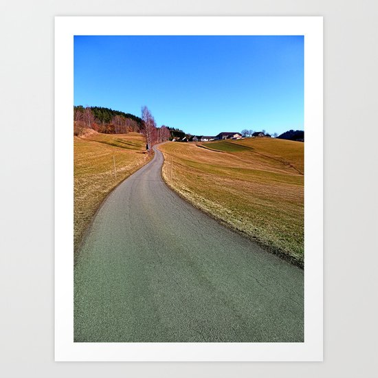 Country road through rural scenery | landscape photography Art Print