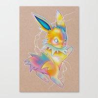 lightning Canvas Prints featuring Lightning by Reid