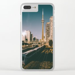 Toronto Tracks Clear iPhone Case