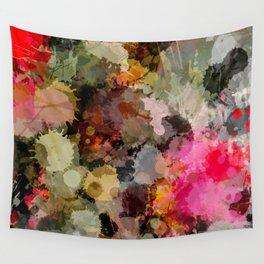 Paint Splatter Bouqet  Wall Tapestry