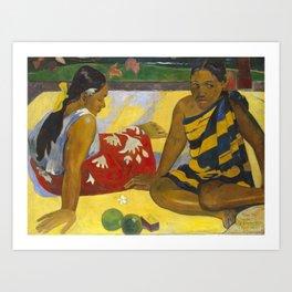 Parau Api / What's news? by Paul Gauguin Art Print