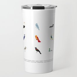 Cape Cod Birds: A Minimalist Field Guide Travel Mug