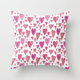 Watercolor My Heart (Small) by Deirdre J Designs Throw Pillow