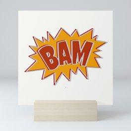 Bam explosion Mini Art Print