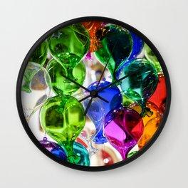 Colourful Glass Balloons | Venice Wall Clock