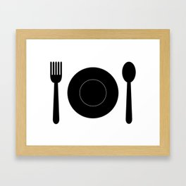 cutlery with plate Framed Art Print