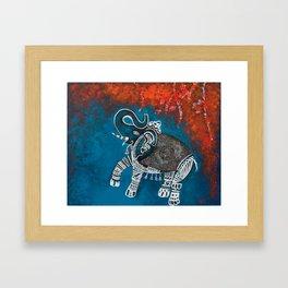 Dancing Elephant in Autumn Framed Art Print
