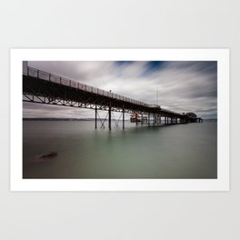 Mumbles pier and lifeboat station Art Print