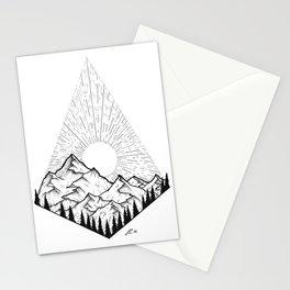 Mountain sunrise II Stationery Cards