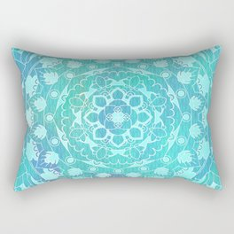 Refreshing Ocean Green Mandala Pattern Rectangular Pillow
