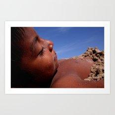Wittos (Blue) Little Indian Sand Boy  Art Print