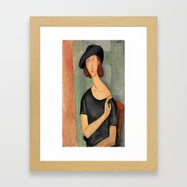 "Amedeo Modigliani ""Jeanne Hébuterne (Au chapeau)"" Framed Art Print"