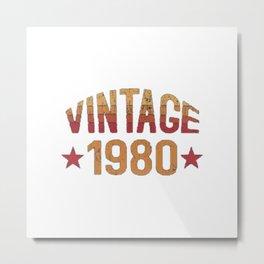 1980 Vintage Metal Print