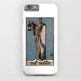 IX. The Hermit Tarot Card iPhone Case