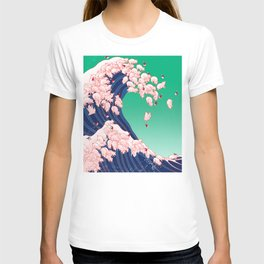 Christmas Baby Pigs The Great Wave T-shirt