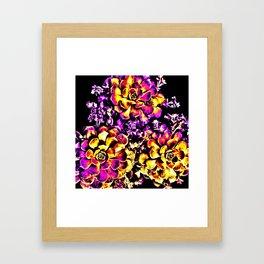 Purple Yellow Flower Plant, Pop Art Framed Art Print