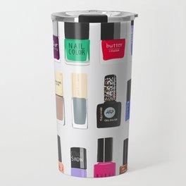My nail polish collection art print Travel Mug