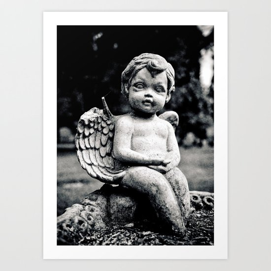 Forgotten angel Art Print
