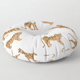 Tiger Print Floor Pillow