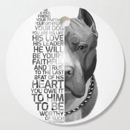 Pit Bull Print, Pit Bull Quote, Pit Bull Gift, Text Dog Portrait, Dog Art, Dog Quotes Print, Text Do Cutting Board