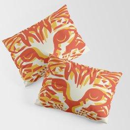 Kitten Linocut Pillow Sham