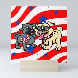 Puppy dog pals fourth of july Mini Art Print
