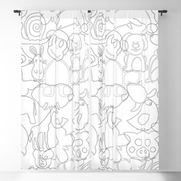 Baby Animals / zoo Blackout Curtain