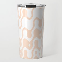 Asymmetry collection: soft coral dreams, print in pastel color Travel Mug