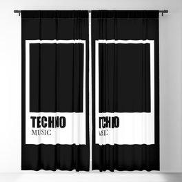 Techno music Blackout Curtain