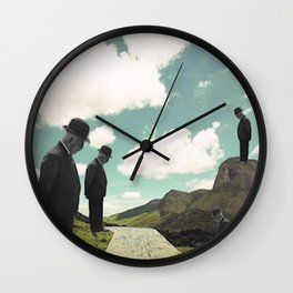 Watching the boats come home Wall Clock