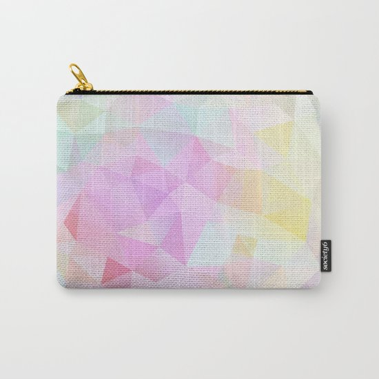 Abstract print of triangles, polygon in pastel colors Carry-All Pouch