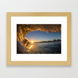Golden View Framed Art Print