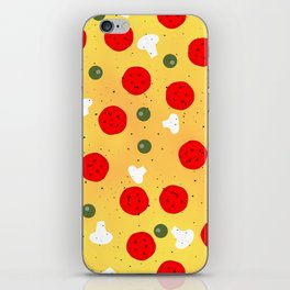 Cool fun pizza pepperoni mushroom iPhone Skin