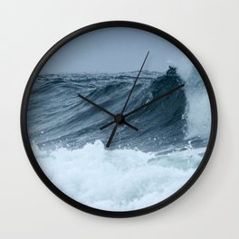 Rolling Waves of Spring Wall Clock