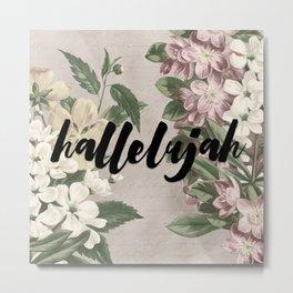 hallelujah vintage floral Metal Print