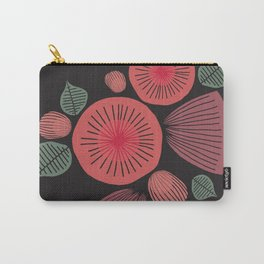 Vintage Floral Dark Carry-All Pouch