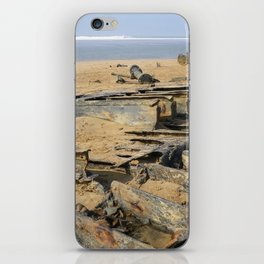 1917 WRECK OF THE STEAMSHIP BELEM NORTH CORNWALL iPhone Skin