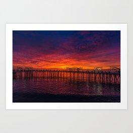 Redondo Pier Sunset Art Print