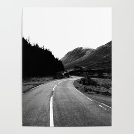 Road through the Glen - B/W Poster