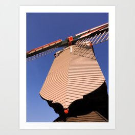 1745 Windmill sundown geometrics Art Print
