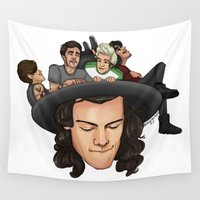 hat Wall Tapestries featuring Harry's Hat by Ashley R. Guillory